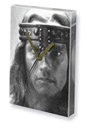 ARNOLD SCHWARZENEGGER - Canvas Clock (A5 - Signed by the Artist) #js001