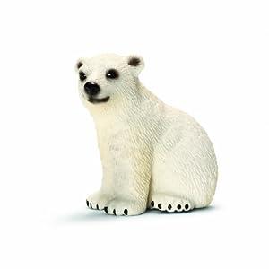 Schleich Polar Bear Cub Toy Figure