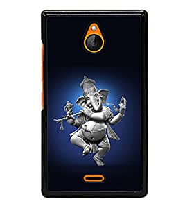 printtech Lord God Ganesha Dancing Back Case Cover for Nokia X2 Dual SIM