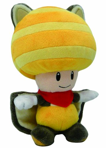 "Little Buddy Toys Nintendo Flyinq Squirrel Toad 8"" Plush, Yellow"