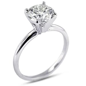 2.50 CT Very Good Cut Round D-VS1 GIA Cert Diamond Platinum Classic Solitaire Engagement Ring 4.81gr