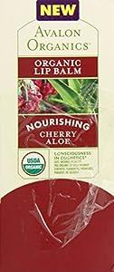 Avalon Organic Nourishing Lip Balm, Cherry Aloe, 0.15 Ounce (Pack of 24)