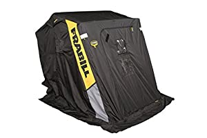 Frabill 6120 Trekker 2 Man Flip Style Shelter with Two Seats