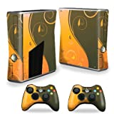 Protective Vinyl Skin Decal Cover for Microsoft Xbox 360 S Slim + 2 Controller Skins Sticker Skins Butterfly Garden