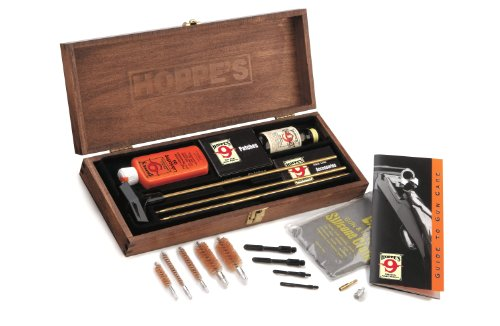 Hoppe's Rifle and Shotgun Cleaning Kit in Wood Storage Box with Handle