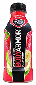 BODYARMOR Drink, Strawberry Banana, 16 Ounce (Pack of 12)