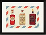 Black Framed/Matted Print 17x23, Two Bottles of Hair Tonic and One Bottle of Dandruff Remover