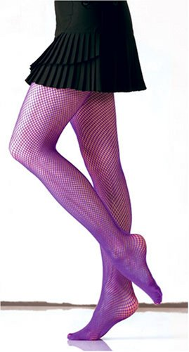 Fishnet Tights, Thigh High in Purple