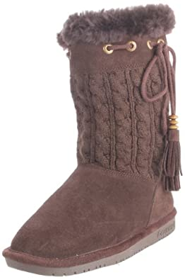 BEARPAW Women's Constantine Boot,Chocolate,5 M US