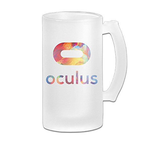 Oculus Rift Great Extra Large Frosted Glass Beer Mug, Personalized Beer Stein, Tea / Coffee Cups - 17 Ounce / 500ML (Oculus Developers Kit compare prices)
