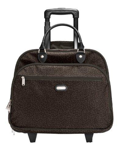 baggallini-rolling-tote-trolley-para-portatiles-color-marron-espresso-cheetah-emboss