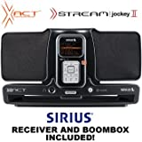XACT SIRIUS SATELLITE RECEIVER AND BOOMBOX SYSTEM