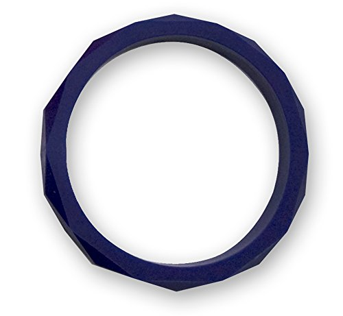 Stimtastic Chewable Silicone Faceted Bracelet Nontoxic BPA, Lead and Phthalate Free, Navy