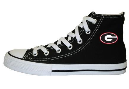 Game Day Hi Top Black University of Georgia Logo Canvas