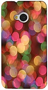 Brilliant 3D multicolor printed protective REBEL mobile back cover for HTC-M7 - D.No-DEZ-2392-m7