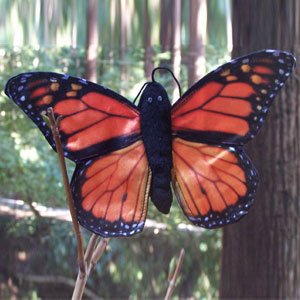 "Sunny Toys 8"" Finger Butterfly Monarch Finger Puppet - 1"