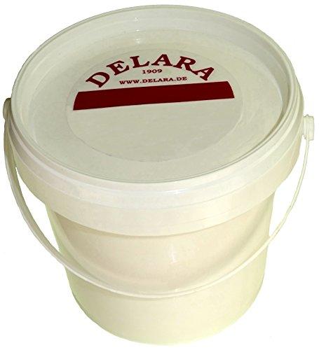 DELARA Sehr hochwertiger Pflegebalsam für Leder mit Bienenwachs, Jojoba und Zitronenduft, Farbe: Farblos. 500 ml - Made in Germany