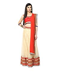 Yepme Hailly Lehenga Choli Set - Beige & Red -- YPMLEHG0085_Free Size