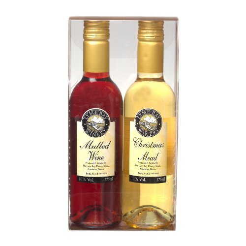 Mulled Wine & Christmas Mead Fruit Wines Gift Box by Lyme Bay - 2 x 375ml Bottles