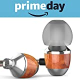 APIE Premium Genuine Wood Corded In-ear Headphones Earbuds Heavy Bass Noise Cancelling Earphones with Microphone for All Apple Android Smartphone