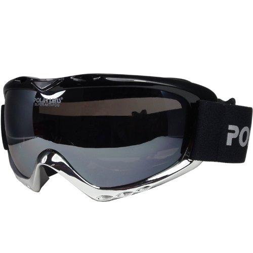 POLARLENS SERIES PG9-02 Skibrille / Snowboardbrille / Sonnenbrille mit FLASH-MIRROR-Verspiegelung + Microfaser-Tasche mit Putztuch-Funktion + Pflege-Set !