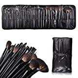 Alice Super Professional Studio Brush Set with Pouch, Gift idea BLACK32PCS