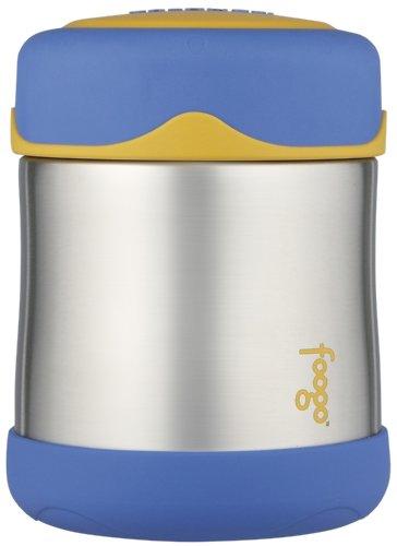 Thermos Foogo Leak Proof Stainless Steel Food Jar, Blue, 10 Ounce