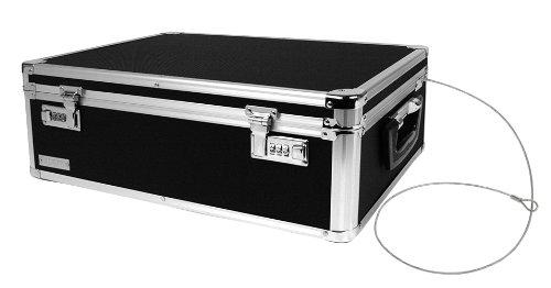 Vaultz Locking Storage Box, 19.5 x 7 x 13.5 Inches, Black (VZ00323)