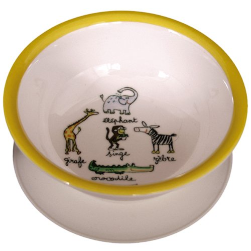 Suction Bowl Baby Cie La Jungle: Jungle Yellow