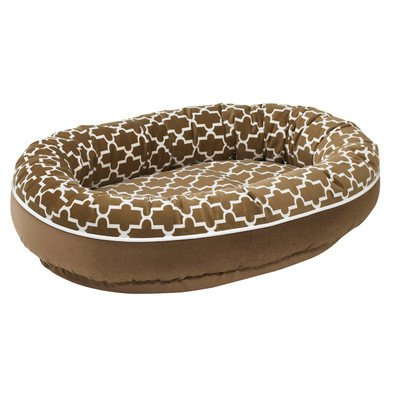 Diam Microvelvet Orbit Donut Dog Bed Size: Medium , Color: C