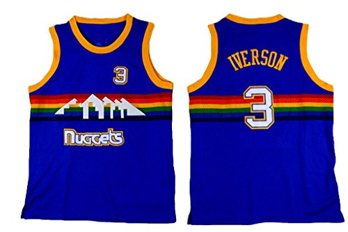 Youth Allen Iverson Blue Basketball Jersey