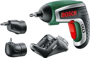 Bosch Visseuse sans fil IXO avec 10 embouts de vissage, renvoi d'angle, adapteur excentrique et chargeur 0603981002