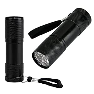 Findway® 5 UV Ultra Violet Blacklight 9 LED Flashlight Torch Light Outdoors