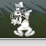 Goofy Dog White Sticker Decal Disney Mickey White Car Window Wall Macbook Notebook Laptop Sticker Decal