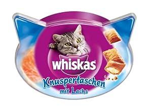 Whiskas Snacks Knuspertaschen mit Lachs 8x60g