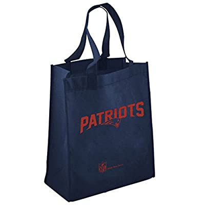 NFL New England Patriots Printed Reusable Tote Bag - Navy Blue