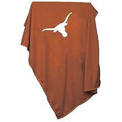Texas Longhorns Ncaa Sweatshirt Blanket Throw by Logo