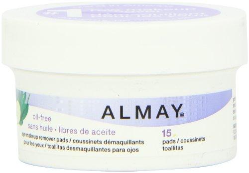 Imagen de Almay sin aceite Eye Pads Makeup Remover, Tamaño Viaje, 15 Count