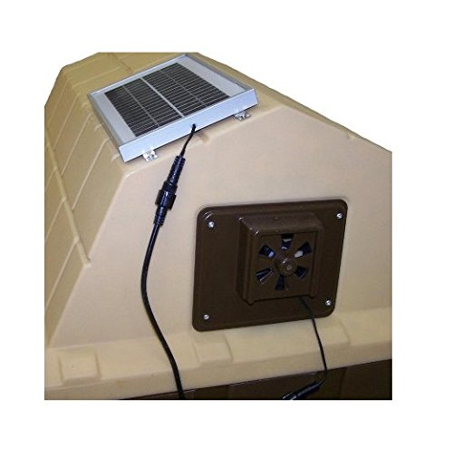 ASL Solutions Dog House Solar Powered Exhaust Fan - 7