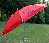 Tommy Bahama 7 Foot Sand Anchor Beach Umbrella w/ tilt and Wind Vent 100 SPF/UPF RED from Tommy Bahama