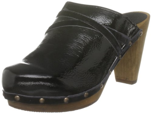 Sanita Women's Mira P Black Wedges Mules 453630/2 4 UK, 37 EU