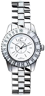 Christian Dior Women's CD112113M001 Christal Diamond White Dial Watch