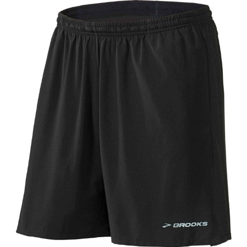 Brooks Brooks Men's Essential 2-in-1 7-Inch Short, Black, Large