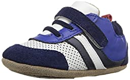 Robeez Everyday Ethan Hard Sole Mini Shoe (Infant), Navy, 3-6 Months M US