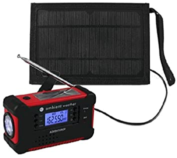 Ambient Weather WR 112 Emergency Solar Hand Crank AM FM NOAA