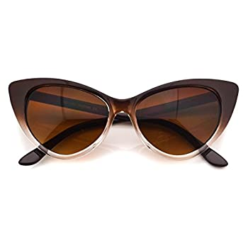 Vintage Inspired Fashion Mod Chic High Pointed Cat Eye Sunglasses for Women