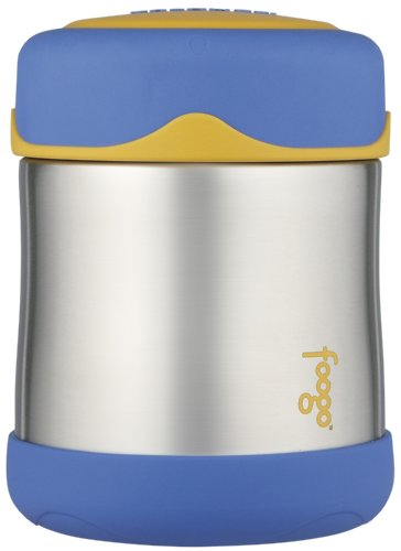 Thermos Foogo Leak-Proof Stainless Steel Food Jar, Blue, 10-Ounce