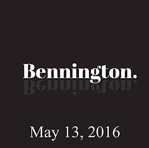 Bennington, May 13, 2016 Radio/TV Program