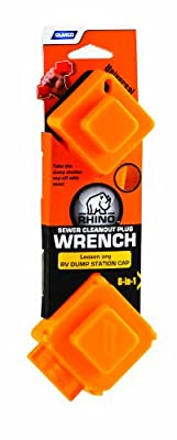 Camco 39755 Rhino Flex 6-in-1 Sewer Cleanout Plug Wrench