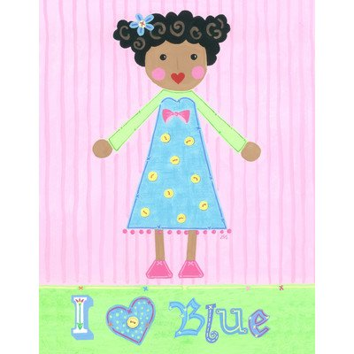 The Little Acorn Painting, I Love Blue Girl - 1